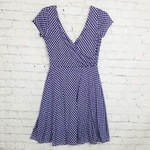 StitchFix|Gilli Blue & White Swing Jersey Dress